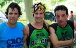 I Cursa de les Quatre Ermites de Ripoll Robert Gilera, Marc Caròs i Dani Ballesteros, el trio guanyador. Foto: Arnau Urgell