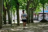 I Cursa de les Quatre Ermites de Ripoll Pol Bertran arribant a la meta del passeig Ragull. Foto: Arnau Urgell