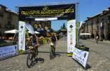 La Transpyr més ripollesa Pau Zamora i Joan Llordella a Ainsa. Foto: FotoEsportBCN/Transpyr