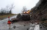 Temporal de pluja 4-6 de març Esllavissada a la carretera de Beget. Foto: Servei de Vigilància de Camprodon