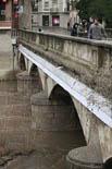Temporal de pluja 4-6 de març El Ter ben ple al seu pas per Ripoll (dimarts tarda). Foto: Arnau Urgell