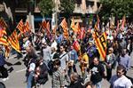 1 de maig a Girona Unes 2.000 persones han participat a la manifestació del Primer de Maig d'aquest migdia a Girona