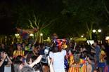 Celebració de la Champions 2015 del Barça a Manresa