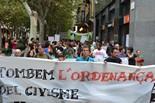 Manifestació contra l'ordenança de civisme