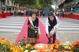 Ofrena floral de la Diada a Manresa 2013