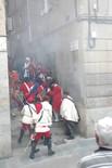 Recreació de l'incendi de la Seu de 1714