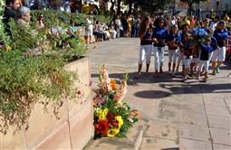 Ofrena floral i acte institucional de la Diada a Berga