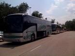 Manifestació 10-J: les fotos dels ciutadans Autobusos a la Garrotxa. Foto: Joan Guirado