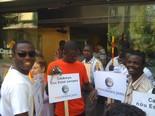 Manifestació 10-J: les fotos dels ciutadans Nouvinguts abans de la manifestació. Foto: Xavier Bosch