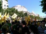 Manifestació 10-J: les fotos dels ciutadans Bloc de l'esquerra independentista. Foto: Joan Fernàndez