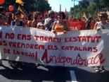 Manifestació 10-J: les fotos dels ciutadans Pancarta curiosa. Foto: Joan Guirado