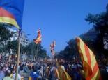 Manifestació 10-J: les fotos dels ciutadans Moments abans de començar la manifestació al passeig de Gràcia.