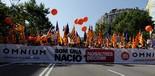Manifestació 10-J: les fotos dels ciutadans Pancarta d'Òmnium. Foto: ACN
