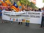 Manifestació 10-J: les fotos dels ciutadans Bloc de partits sobiranistes valencians i aragonesos. Foto: Joan Coll
