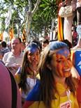 Manifestació 10-J: les fotos dels ciutadans Cares molt independentistes. Foto: Antoni Rodriguez