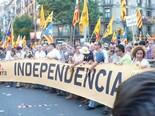 Manifestació 10-J: les fotos dels ciutadans Pancarta d'ERC. Foto: Sergi Albrich