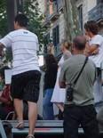 Manifestació 10-J: les fotos dels ciutadans Mònica Terribas supervisant l'operatiu de TV3. Foto: Joan Ferrer