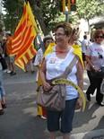 Manifestació 10-J: les fotos dels ciutadans La falça al puny. Foto: Mercè Genero