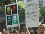 Manifestació 10-J: les fotos dels ciutadans Xirinacs ja ho va dir. Foto CUP Borges
