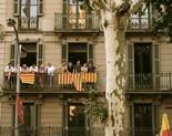 Manifestació 10-J: les fotos dels ciutadans Senyeres als balcons. Foto: Marina Cabanis
