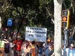 Manifestació 10-J: les fotos dels ciutadans Pancarta directe. Foto: Guillem Gonzàlez