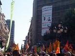 Manifestació 10-J: les fotos dels ciutadans Pancarta de les JERC. Foto: Guillem Gonzàlez
