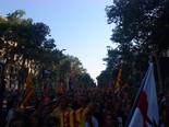 Manifestació 10-J: les fotos dels ciutadans Marea humana a la Gran Via. Foto: Guillem Gonzàlez