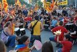 Manifestació 10-J: les fotos dels ciutadans Grup de percurssió enmig de la manifestació. Foto: Sergi Pich