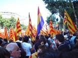 Manifestació 10-J: les fotos dels ciutadans Senyeres i una republicana espanyola. Foto: Meritxell Matas