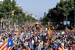 Manifestació 10-J: les fotos dels ciutadans Marea humana al passeig de Gràcia. Foto: Gerard Garcia