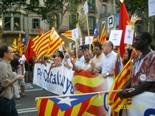 Manifestació 10-J: les fotos dels ciutadans Nouvinguts a la manifestació. Foto: Montse Pinyot