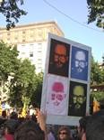 Manifestació 10-J: les fotos dels ciutadans Xirinacs ja ho deia. Foto: Foto: Joan Pilar i M. Carme de Ripoll