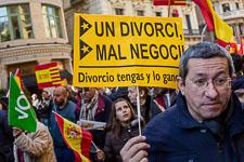 Manifestació en defensa de la Constitució a Barcelona
