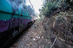 Un tren topa contra un arbre i descarrila prop de la Garriga