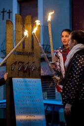 Les millors fotos de la setmana de Nació Digital  L'ANC del Voltreganès commemora els Fets de La Gleva de 1714.  Foto: Adrià Costa