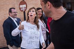 Les millors fotos de la setmana de Nació Digital   Alícia Sánchez-Camacho presenta els alcaldables del PP a la Catalunya Central, en un acte a Vic.</br>Foto: Adrià Costa