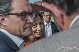 Les millors fotos de la setmana de Nació Digital El president, Artur Mas dóna suport a la candidatura d'Anna Erra a Vic.  Josep M. Montaner