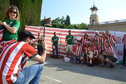 Els seguidors de l'Athletic Club de Bilbao envaeixen Barcelona