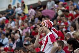 Les millors fotos de la setmana de Nació Digital El Girona cau estrepitosament amb el Saragossa a Montilivi i enterra el somni d'ascendir a Primera Divisió. </br> Foto: Carles Palacio