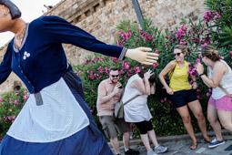 Les millors fotos de la setmana de Nació Digital Els gegants de Maials protagonitzen la Festa Catalana del Castell de Montjuïc.</br> Foto: Adrià Costa