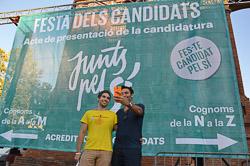 La festa dels candidats de Junts pel Sí