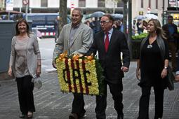 Diada Nacional 2015: Ofrena floral a Rafael Casanova