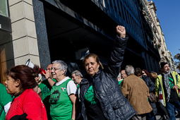 Acció de la PAH al centre de Barcelona