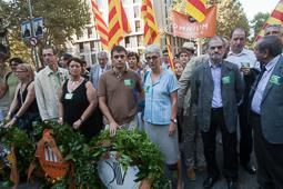 Muriel Casals, tota una vida de lluita 11/09/2011. Muriel Casals, a l'ofrena floral a Rafael Casanova. Foto Adrià Costa.