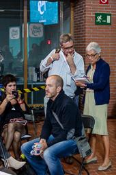 Muriel Casals, tota una vida de lluita 10/09/2015. Muriel Casals, preparant l'acte d'inici de campanya de Junts pel Sí. Foto: Adrià Costa.