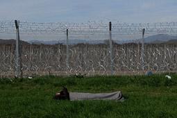 Camp de refugiats d'Idomeni, a la frontera entre Grècia i Macedònia