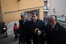 Funeral de mossèn Ballarín a Berga Joan Laporta arrivant al funeral del Mossen Ballarín a Berga