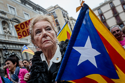 Manifestació «Sense por» de la CUP per la desobediència