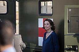 Dia de les Forces Armades a Figueres Concepció Veray (Regidora del PPC a l'Ajuntament de Girona) a les jornades de portes obertes