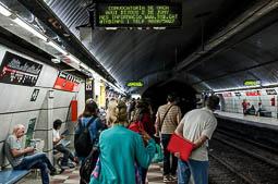 Les millors fotos de la setmana de Nació Digital El metro de Barcelona viu quatre jornades consecutives de vaga. Foto: Adrià Costa